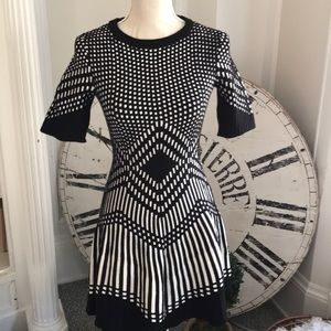 Dresses & Skirts - Thick stretchy sweater dress with stunning pattern